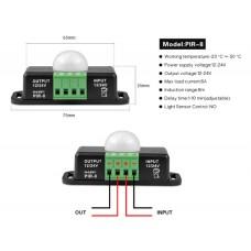 Automatic Adjustable PIR Motion Sensor