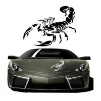 Car sticker scorpion pattern