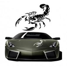 Car sticker scorpion pattern
