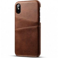 Luxury leather case with card holder iPhone X XS
