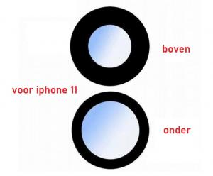 Rear Camera Lens for iPhone 11 set of 2