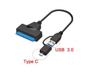 SATA III USB 3.0 kabel Sata- to USB-C adapter